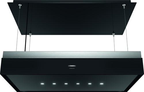 Siemens LR18HLT65 iQ700, Plafondunit varioLift 105x60 cm, randafz., zwartglas/rvs