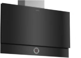 SerieI8, Wandschouwkap, 90 cm, vlak, zwart, RingControl, Amb