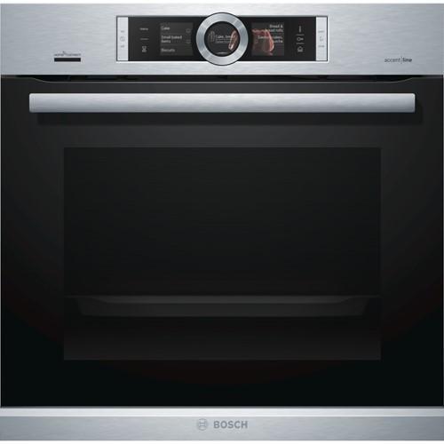 Bosch Serie 8 HSG856XS6 oven Elektrische oven 71 l Zwart, Roestvrijstaal A+