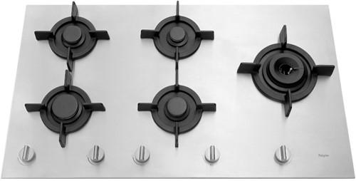 Pelgrim GK895RVSA Gas kookplaat inbouw