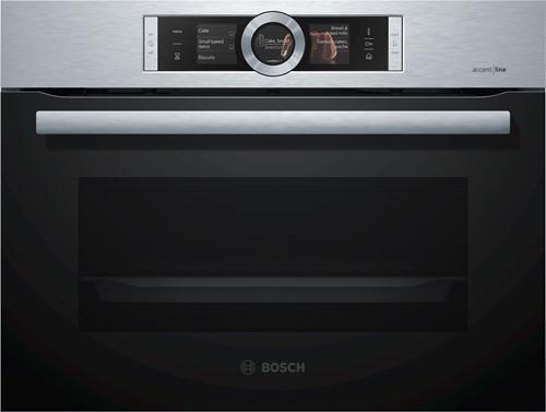 Bosch CSG856NS2 Serie|8, Comp bakoven met stoom, 12 syst, EcoClean Full
