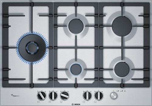 Bosch PCS7A5M90N Serie 6, Gaskookplaat rvs, 75 cm, wok links, FS, hoofdschake