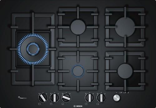 Bosch PPS7A6M90N Serie|6, Hardglas gaskookplaat 75 cm, wok-li, FS, hoofdschak