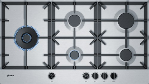 NEFF T29DS79N0N 90 cm rvs 5 branders 5 kW wok links