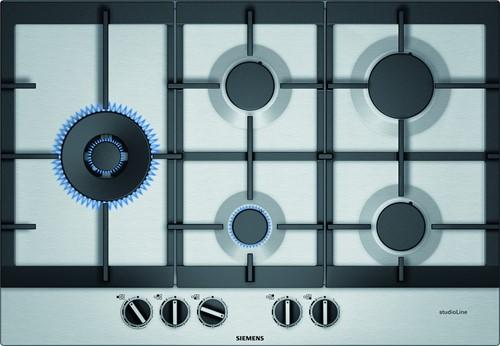 EC7A5SS90N iQ500, Gaskookplaat 75 cm, rvs, stepFlame, wok links