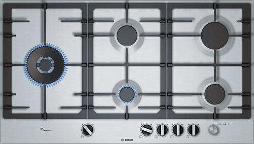 Bosch PCS9A5M90N Serie 6, Gaskookplaat rvs, 90 cm, wok links, FS, hoofdschake