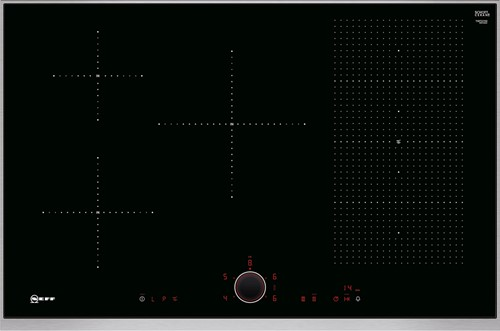 NEFF T58TS21N0 80 cm 5 zones 1 Flexzone TPfire metalDesign
