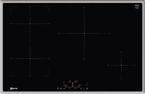 NEFF T48BD13N2 80 cm, 4 zones, TC, rvs rand