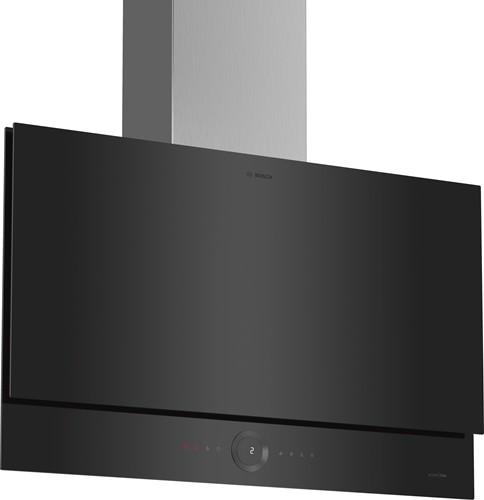 DWF97RW65 SerieI8, Wandschouwkap, 90 cm, vlak, zwart, RingControl, Amb