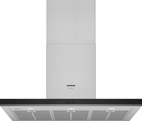 Siemens LC97BIR55 iQ500, Wandschouwkap 90 cm, blok, rvs afdekking