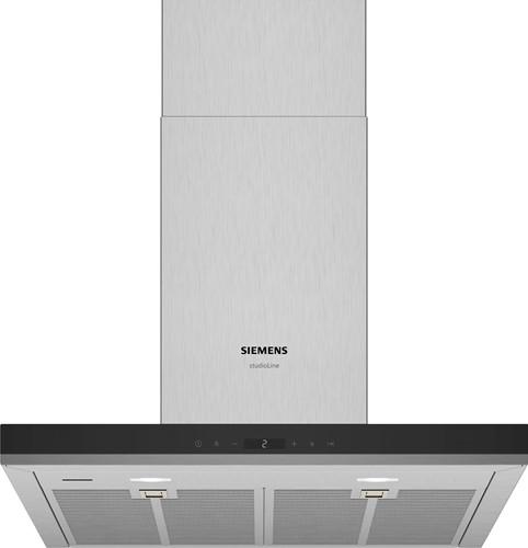 Siemens LC67BIR55 iQ500, Wandschouwkap 60 cm, blok, rvs afdekking