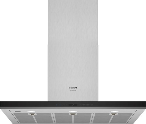 Siemens LC91BUV55 iQ700, Wandschouwkap 90 cm, blok, rvs afdekking