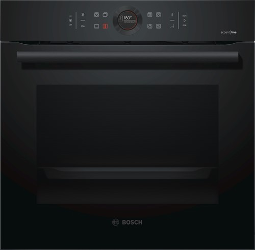 Bosch HBG855TC0 Serie|8, Bakoven 60 cm, 13 syst, EcoClean Full, Carbonblack