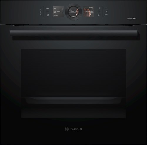 HBG856XC6 Serie|8, Bakoven 60 cm, 13 syst, EcoCl Full, HC, Carbonblack